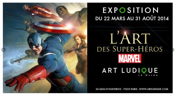 Art Ludique expo Marvel