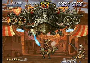 Un boss de Metal Slug 2.