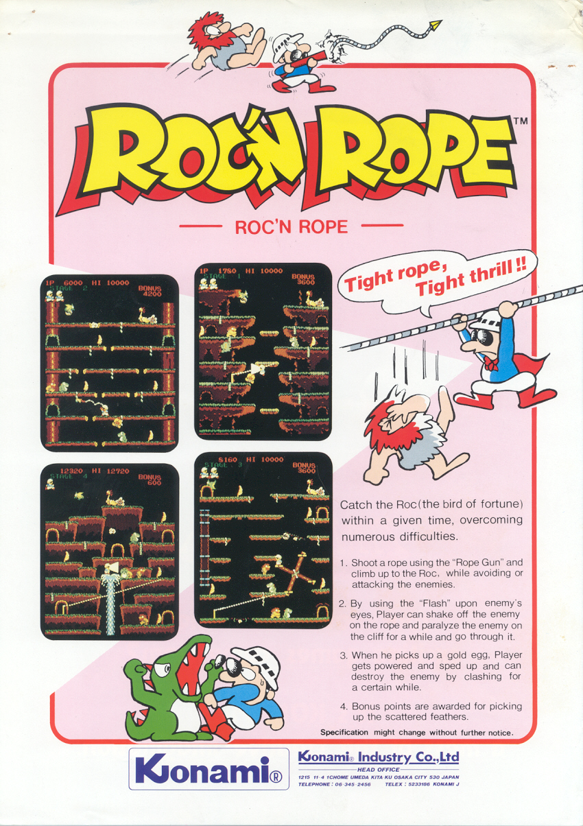 test du jeu roc n rope mame arcade retrocaming retrogaming. Black Bedroom Furniture Sets. Home Design Ideas