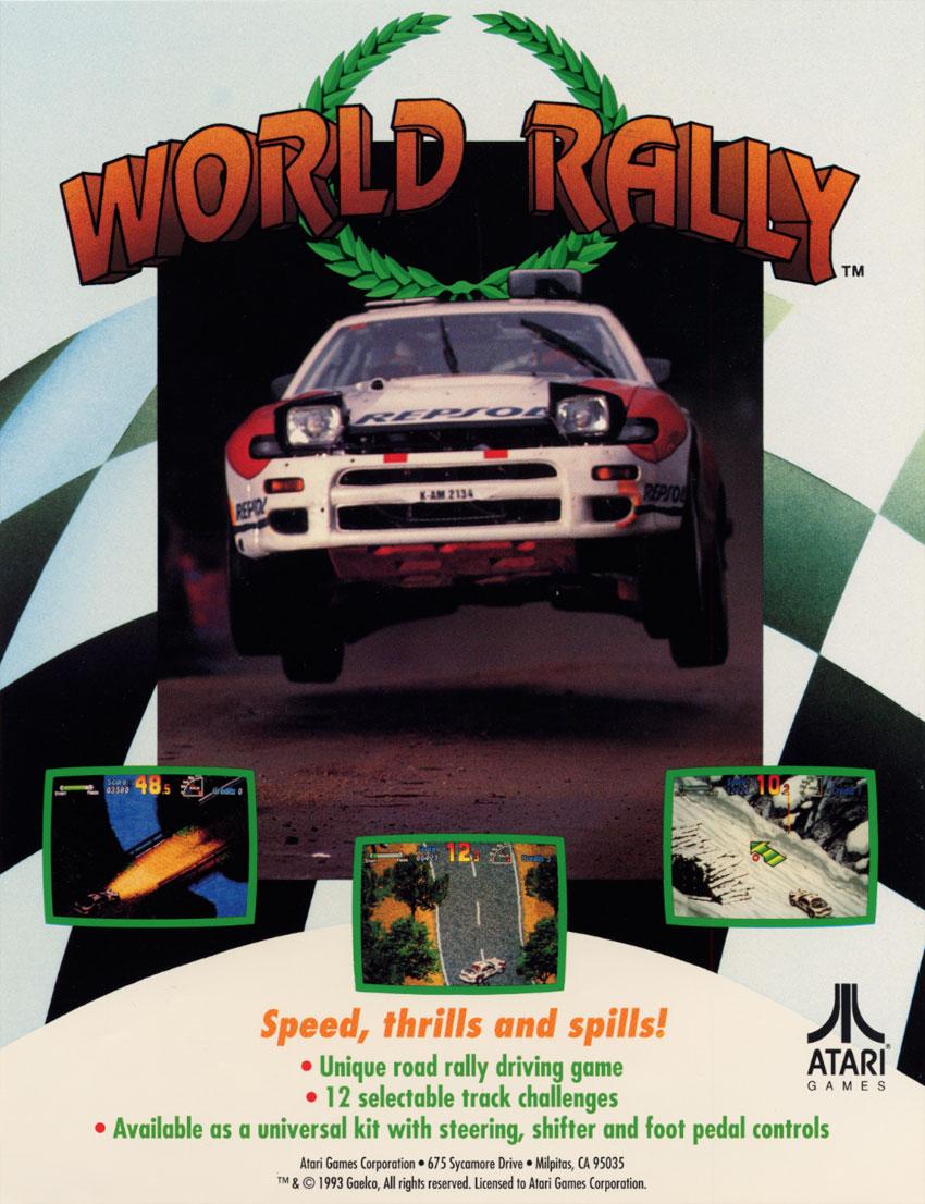 test du jeu world rally championship mame arcade retrocaming retrogaming. Black Bedroom Furniture Sets. Home Design Ideas