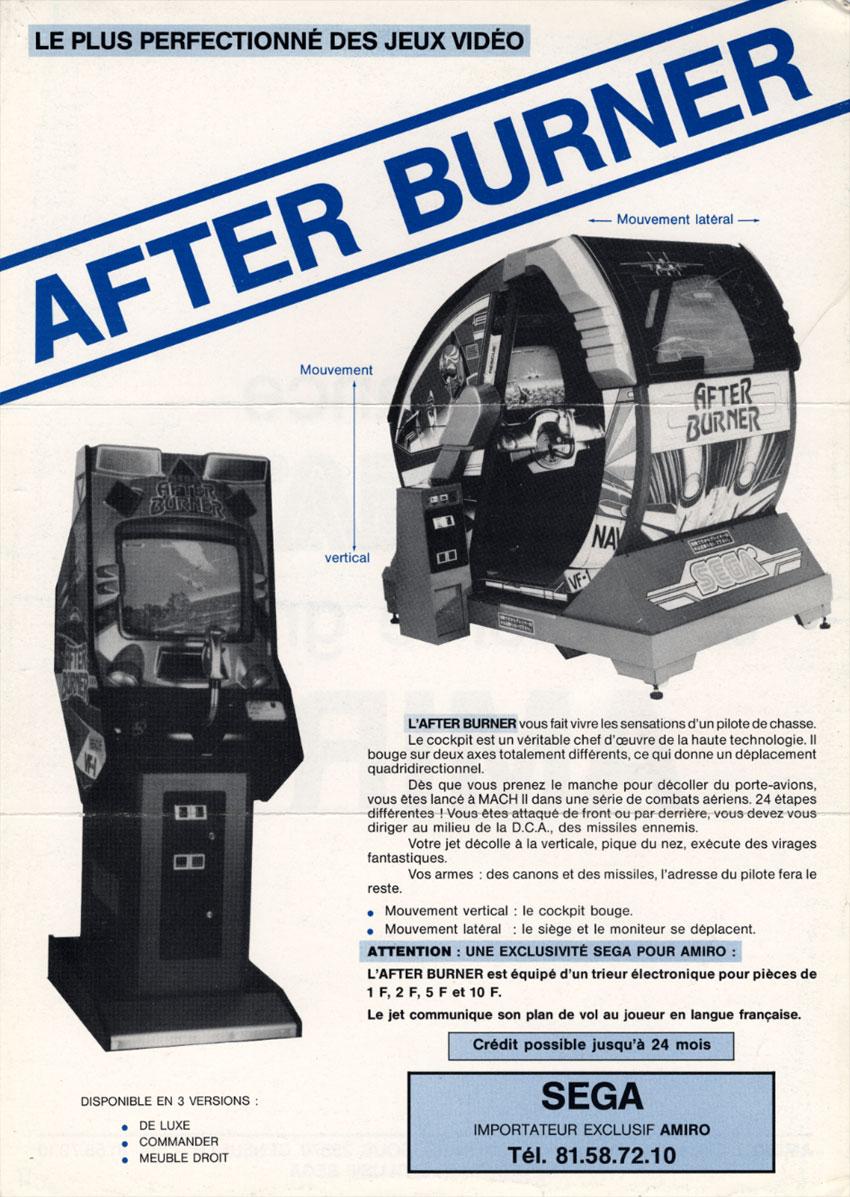 test du jeu after burner mame arcade retrocaming retrogaming. Black Bedroom Furniture Sets. Home Design Ideas